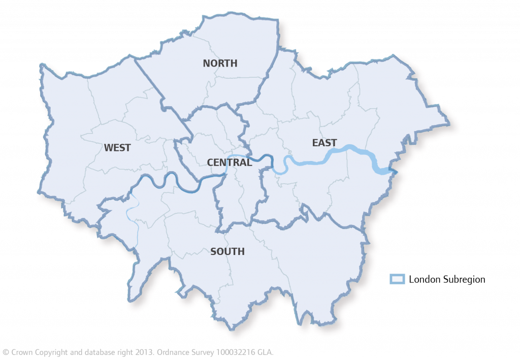 Map Outer London.London Plan Map 2 1 Sub Regions Inner Outer London City Hall