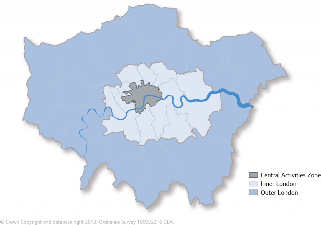 Map Outer London.Map 2 2 Outer London Inner London And Caz London City Hall