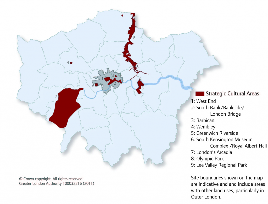 map 42 londons strategic cultural areas