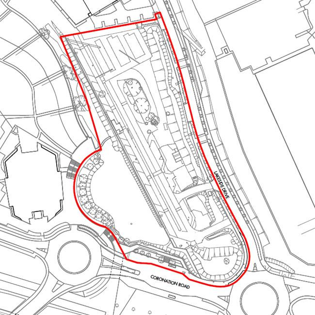 Application Site Map: First Central, Planning Application