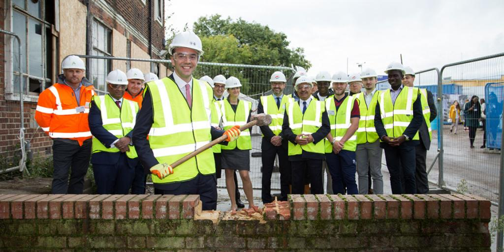 James Murray starting the building work on London's largest regeneration scheme in Old Oak and Park Royal with OPDC