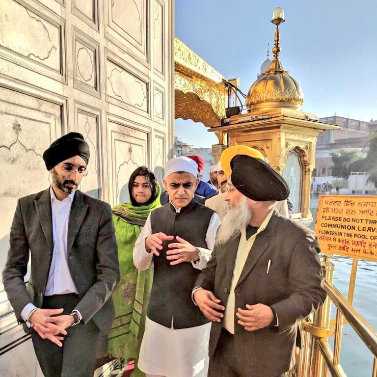 Sadiq Khan visits Golden Temple in Amritsar