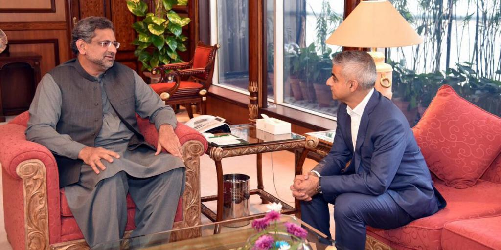 Mayor Sadiq Khan with Prime Minister of Pakistan, Shahid Khaqan