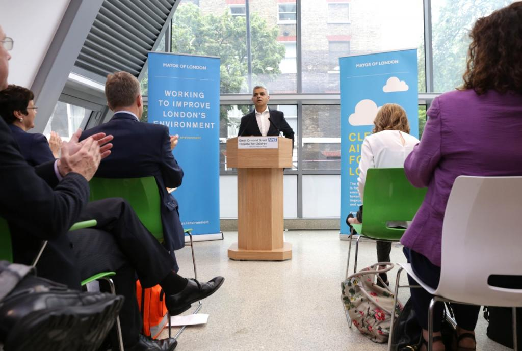 Sadiq speaking on clean air