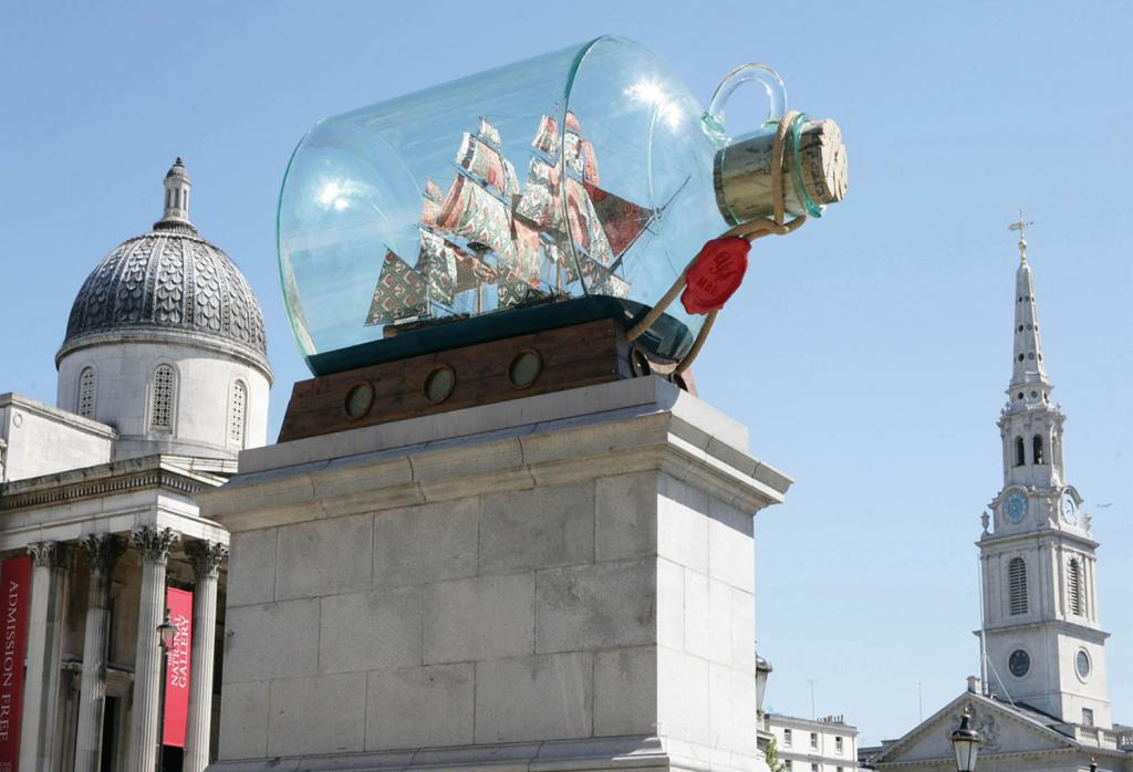 Fourth Plinth past commission, Nelson's Ship in a Bottle, Yinka Shonibare MBE, 2010