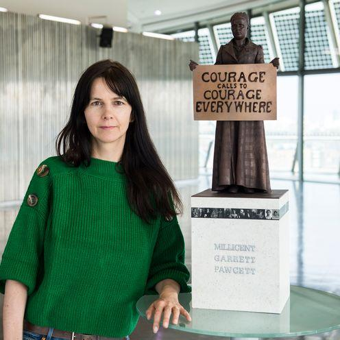 Gillian Wearing and Millicent Fawcett sculpture