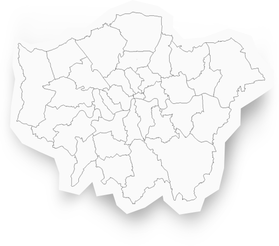 Map of London Boroughs