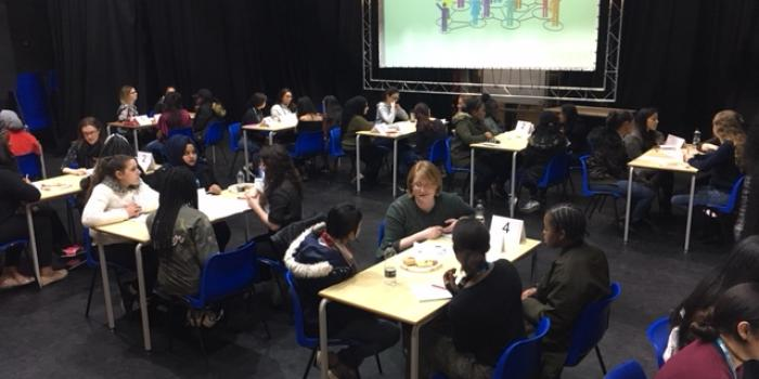 Speed networking with school students!