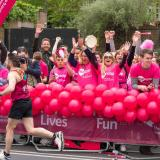 Mencap London Marathon Cheer Point people cheering